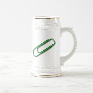 Green Paper Clip Mug