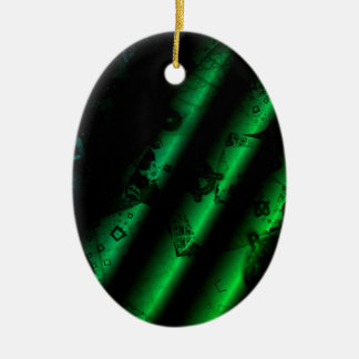 green paper reels weihnachtsbaum ornament