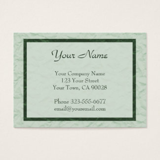 green Paper Texture border Business Card