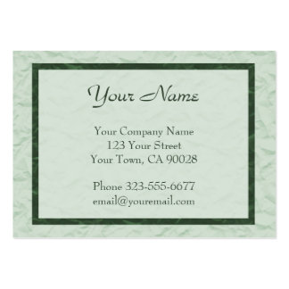 green Paper Texture border Pack Of Chubby Business Cards