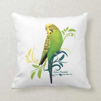 Green Parakeet Cushion