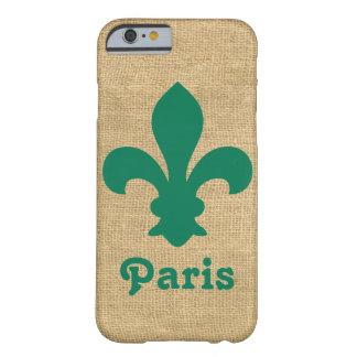 Green Parisian Moods Fleur de Lys Barely There iPhone 6 Case