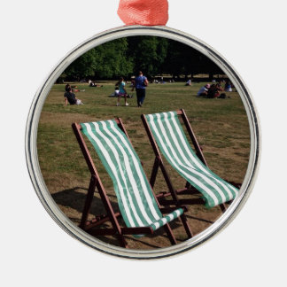 Green Park Deckchairs in Summer Christmas Ornament