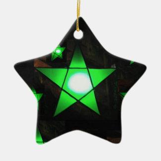 Green Parol Christmas Ornament