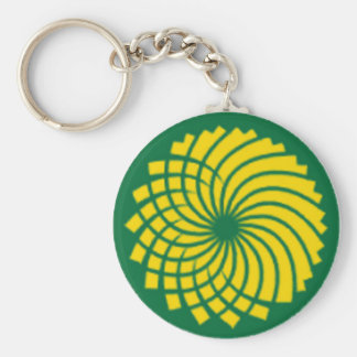 GREEN PARTY BASIC ROUND BUTTON KEY RING