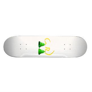 Green Party Bells Skate Board