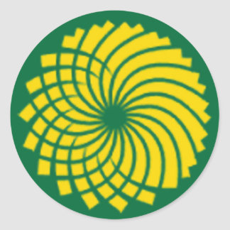 GREEN PARTY CLASSIC ROUND STICKER
