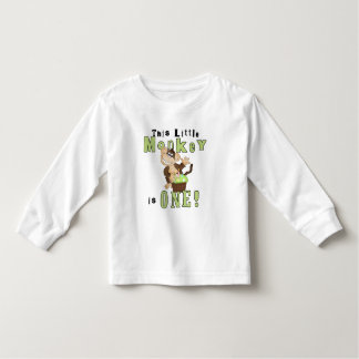 Green Party Monkey 1st Birthday Tshirts and Gifts