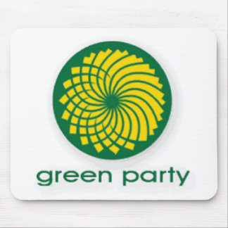 GREEN PARTY MOUSE MAT