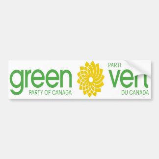 Green Party of Canada Parti Vert du Canada Bumper Sticker
