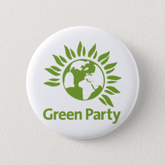 Green Party of England and Wales 6 Cm Round Badge