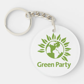 Green Party of England and Wales Single-Sided Round Acrylic Key Ring