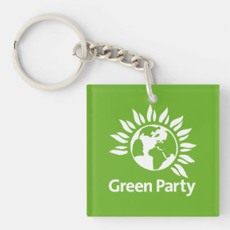 Green Party of England and Wales Single-Sided Square Acrylic Key Ring