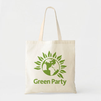 Green Party Tote Bag