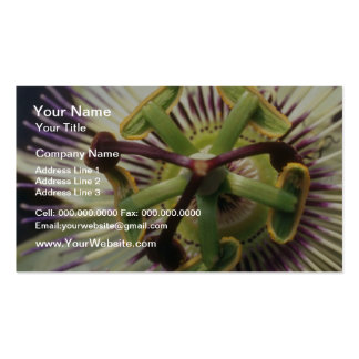 Green Passiflora flowers Business Cards