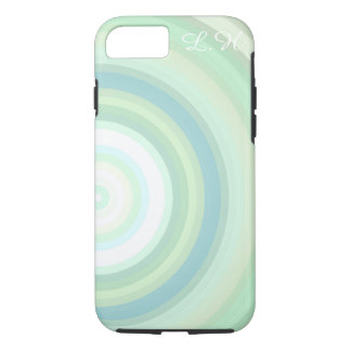 Green Pastel circles Monogrammed customizable iPhone 8/7 Case