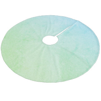 Green  Pastel Ombre Glitter Fleece Tree Skirt
