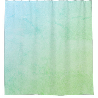 Green Pastel Ombre Glitter Shower Curtain