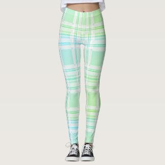 Green Pastel Plaid Leggings