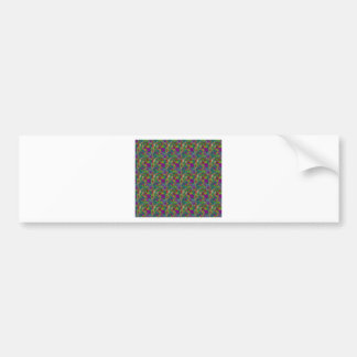 green pattern bumper sticker