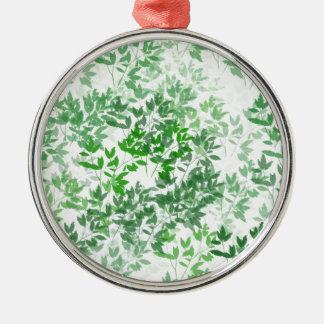 green pattern christmas ornament