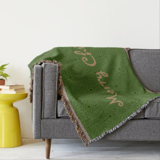 Green Pattern Christmas Throw Blanket