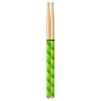 Green Pattern Drum Sticks
