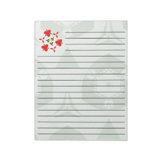green Pattern Notepad