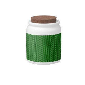 Green pattern candy dish