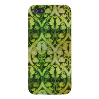 Green Pattern; Vintage Cases For iPhone 5