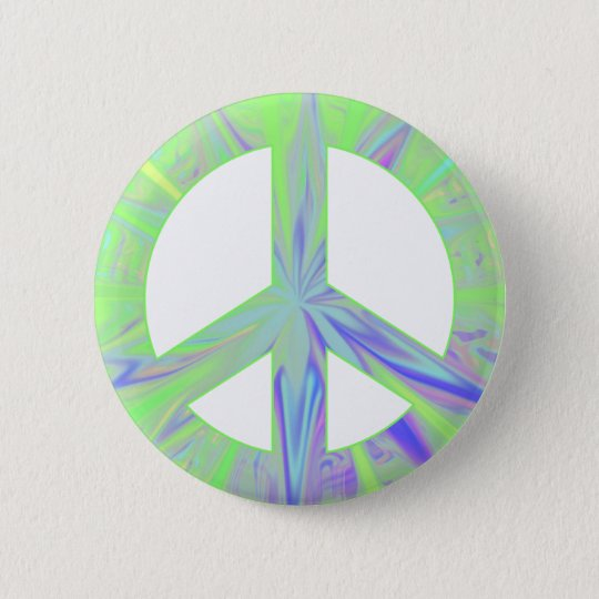 green peace 6 cm round badge