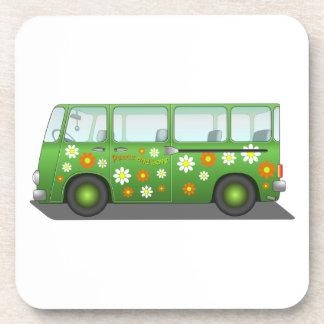 Green Peace and Love Van Coasters