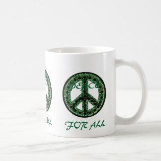green peace for all mug