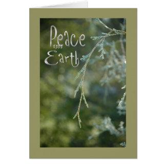 Green Peace on Earth Christmas Card