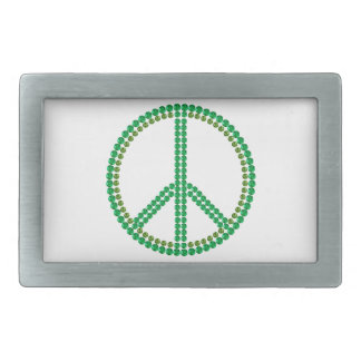 Green Peace Rectangular Belt Buckles