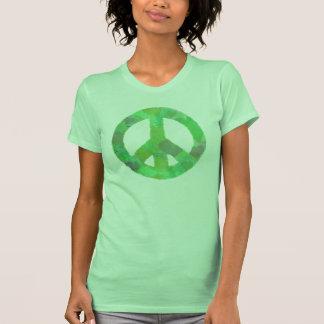 GREEN PEACE SIGN HEART DESIGN T SHIRT cute abstrac