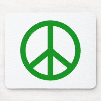 Green Peace Sign Mouse Pads