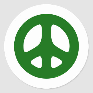 Green Peace Sign Sticker