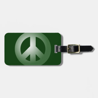 Green Peace Sign Tags For Bags