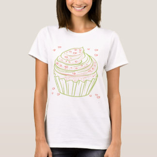 green_peach_cupcake_with_icing T-Shirt