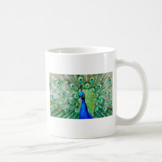 Green Peacock Basic White Mug