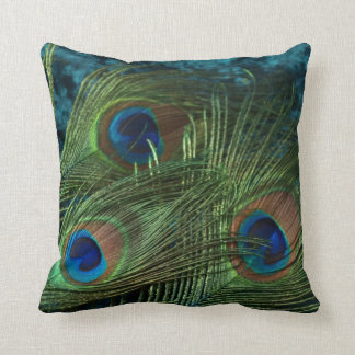 Green Peacock Feather Cushion