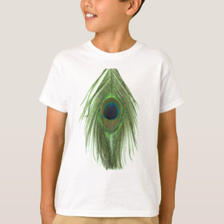 Green Peacock Feather D T-Shirt