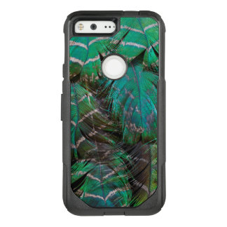 Green Peacock Feather Design OtterBox Commuter Google Pixel Case