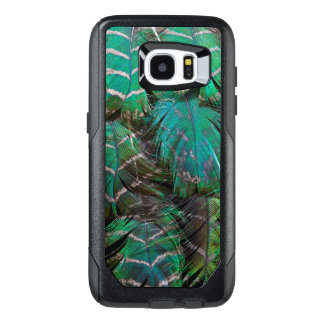 Green Peacock Feather Design OtterBox Samsung Galaxy S7 Edge Case