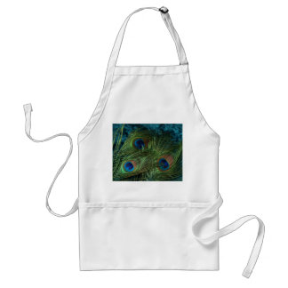Green Peacock Feather Standard Apron