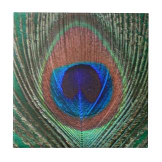 Green Peacock Feather Tile
