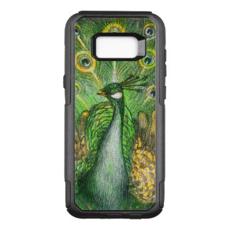 Green Peacock OtterBox Commuter Samsung Galaxy S8+ Case