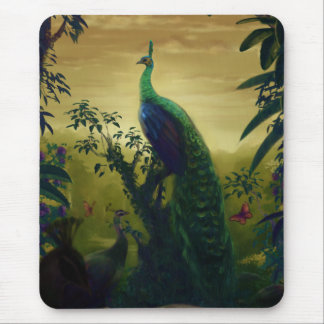 Green peafowl (Pavo muticus) Mouse Pad