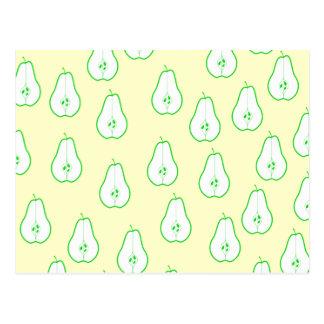 Green Pear Half Pattern. Postcard